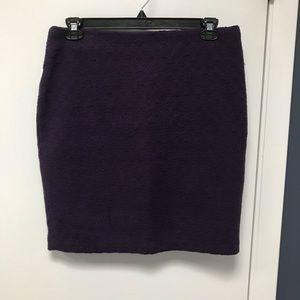 Purple pencil skirt, wool/polyester